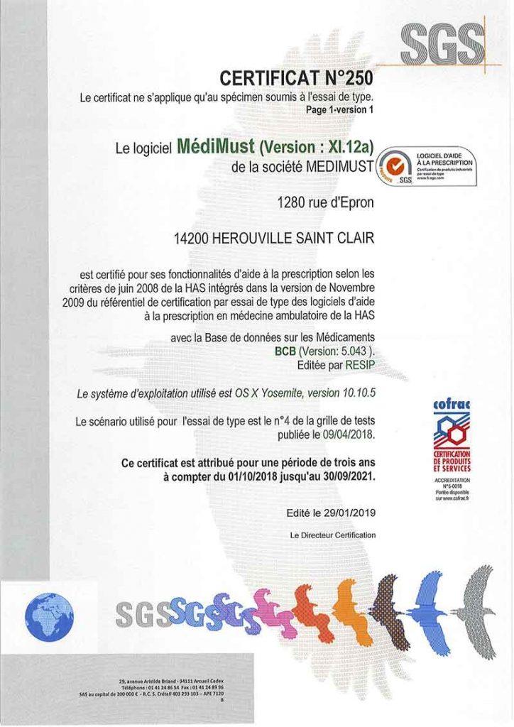Medimust certifie lap has